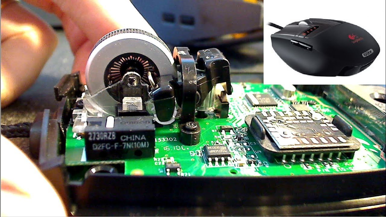 Logitech G9 G9x Disassembly Repair Shorted Cable
