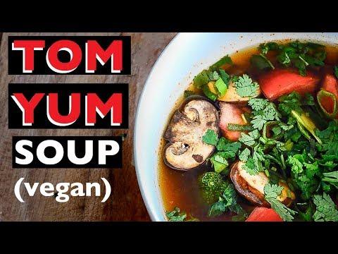 EASY VEGAN TOM YUM SOUP RECIPE | CHEAP BUDGET VEGAN DISH | BEST VEGAN HOW TO RECIPES