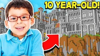 THIS CASTLE WAS MADE BY A 10 YEAR OLD IN MINECRAFT!