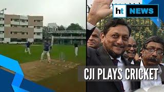 Watch: CJI SA Bobde plays cricket, scores 18 runs..