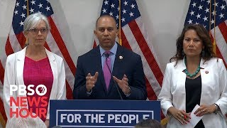 WATCH: House Democrats call on Congress to back migrant aid bill