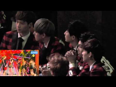 Exo cute reation to Sistar GTM (23rd Seoul Music Awards )