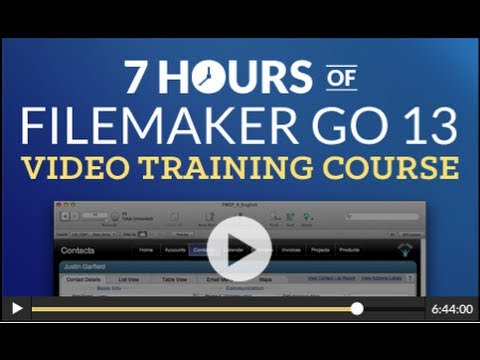 FileMaker Go 13 Video Training Course