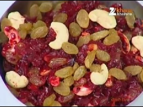 Rasm E Rasoi Khana Khazana Channel - Chukandar Ka Mitha Full Free Video Recipe, Recipe in Hindi