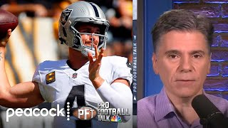 Derek Carr cementing himself as Las Vegas Raiders' franchise QB   Pro Football Talk   NBC Sports