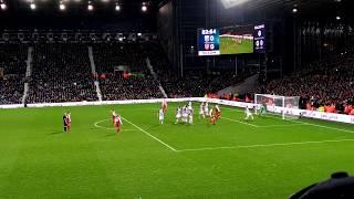 Alexis Sánchez free kick GOAL / West Bromwich Albion v Arsenal / 2017/18 | Premier League