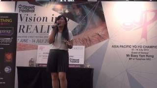 Singapore Street Festival 2013 Singing Competition   Rebecca Soh