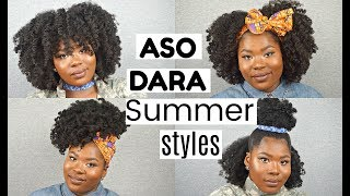 SUMMER HAIR STYLES FT. ASO DARA | Bubs Bee