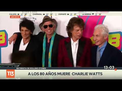 Muere Charlie Watts, baterista de Rolling Stones