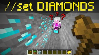 Trolling kids with world edit in minecraft