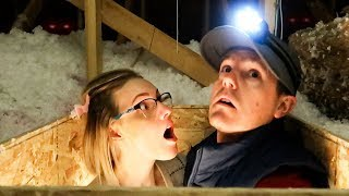 We Think SOMEONE or SOMETHING Is Living In Our ATTIC!