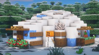 Minecraft   How to Build an Igloo   Simple Survival Tutorial