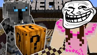 Minecraft: SPOOKY TROLLING GAMES - Lucky Block Mod - Modded Mini-Game