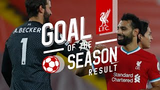 Liverpool's Goal of the Season result   Top 5 Goals 2020/21