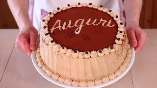 TORTA DI COMPLEANNO AL CAFFE' Ricetta Facile - Coffee Flavored Birthday Cake Easy Recipe