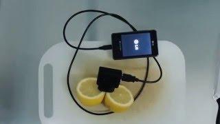 Napunite mobilni pomoću limuna