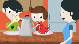 Selección saludable de alimentos presentado por Puros Cuentos Saludables