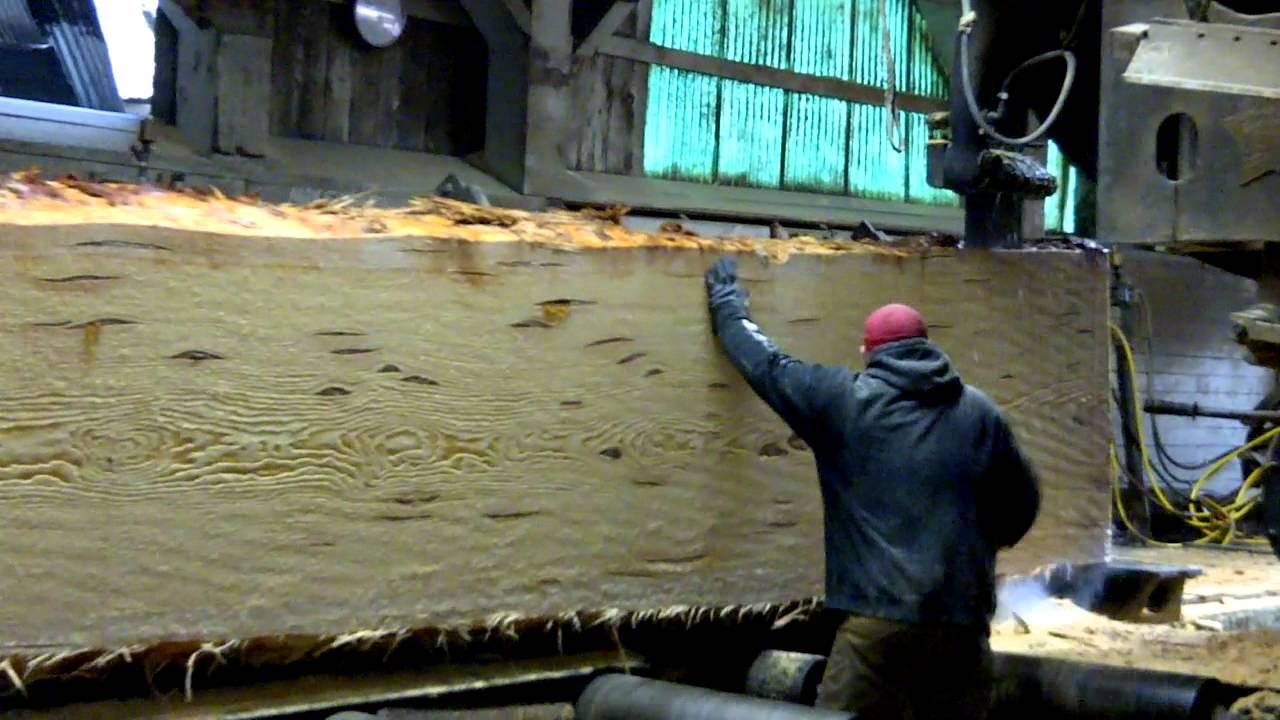 Hull Oakes Lumber Company Main Saw Cutting Huge Doug
