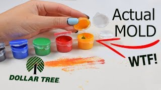 A TOTAL MESS...TESTING $1 DOLLAR TREE PAINT