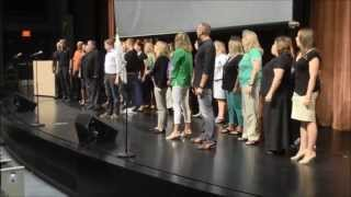 """Flash Mob """"One Day More"""" (Les Mis...with CC subtitles)  - West Des Moines Schools - Welcome Back"""