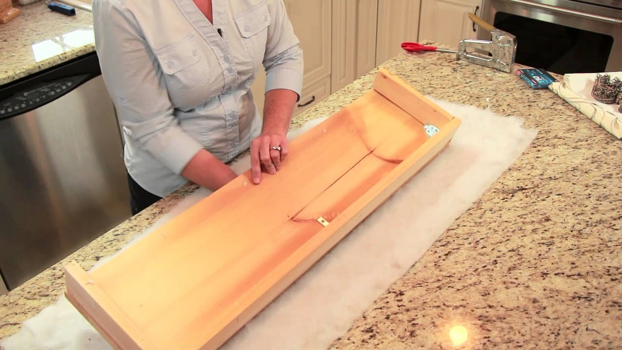 How To Cover A Cornice Board Diy Home Decor Tips Youtube