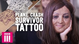 Plane Crash Survivor Decorates Scars To Remember Family | A Tattoo To Change Your Life