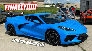 We FINALLY Got Our Mid-Engine C8 Corvette!!! 1000+hp Axles, Lowering it, and MORE!