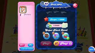 Candy Crush Saga 4093 Super Hard Level First Try Gold Level ⭐⭐⭐