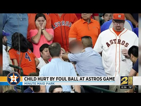 Child hurt by foul ball at Astros game
