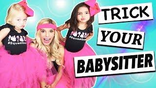 How to: Trick your babysitter featuring Rebecca Zamolo!!!| ForeverandForava