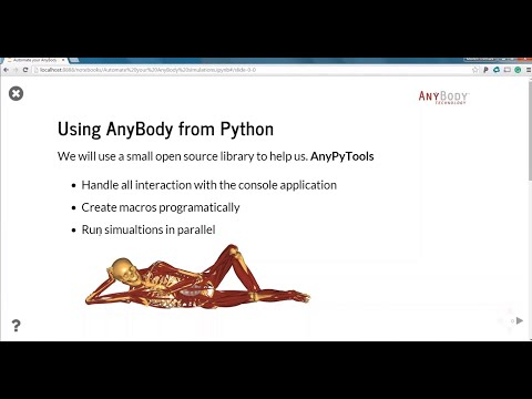 [Webcast] Automate your AnyBody simulations, or how to run AnyBody from python