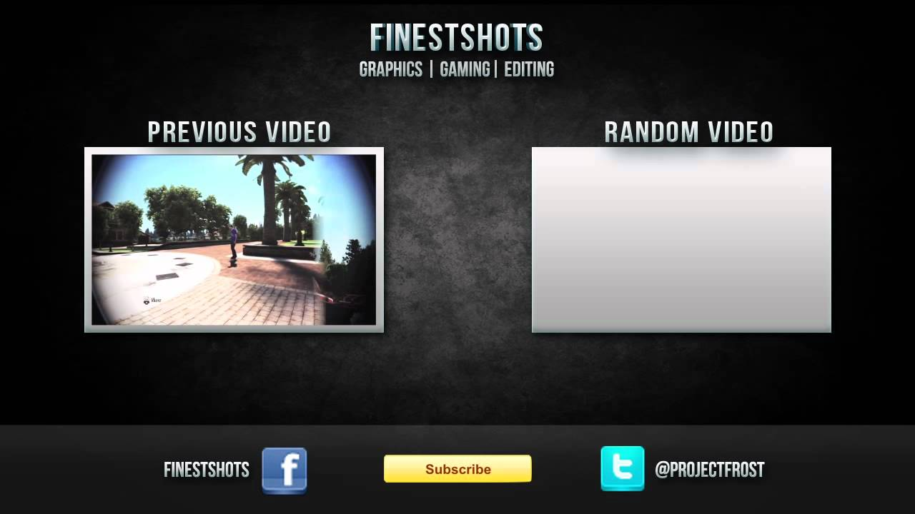Youtube video outro template psd file included youtube for Minecraft outro template movie maker