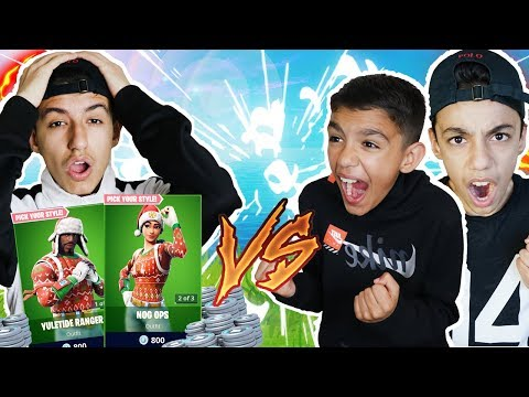I Bought Everyone Who Killed Me In A Fortnite 1v1 The NEW Christmas Skins! Little Brother Rages!