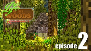Life In The Woods (A Minecraft Adventure) - EP02 - The Mud Brick Cabin!