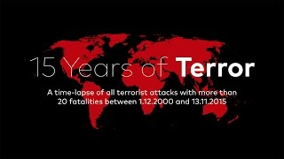 Дизайнер з Берліна Мілан Вукович створив карту з історією терористичних актів за останні 15 років