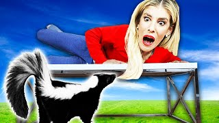 FOUND Wild SKUNK in our House! (24 Hour GMI Hacker Prank) | Rebecca Zamolo