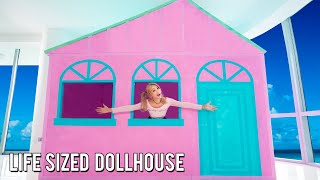 I Lived In A Life Sized Dollhouse For 24 Hours Challenge!