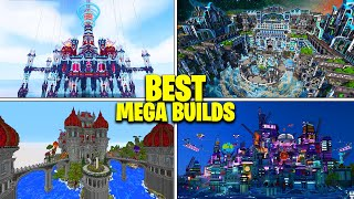 5 BEST Minecraft MEGA BUILDS Ever Built! (BEST Mega Bases)