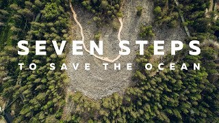 """""""Seven Steps to Save the Ocean"""" artwork in Ranua, Lapland, Finland"""