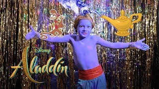 """ALADDIN Genie song  """"Friend Like Me"""" by Martin at 8 years old"""