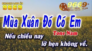 Karaoke Mùa Xuân Đó Có Em - Tone Nam   Nhạc sống KLA   LA STUDIO - Karaoke 9669