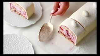 NORWEGIAN  CAKE, WITH LEMON & BLUEBERRY FILLING
