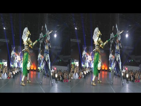 (3D) Cosplay fighting Sword Art OFFline (AVA Expo 2016)