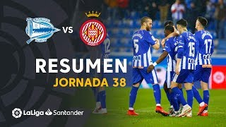 Resumen de Deportivo Alavés vs Girona FC (2-1)
