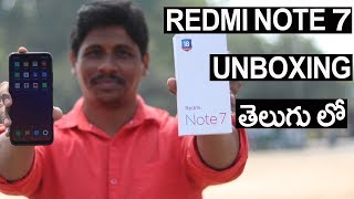 Xiaomi Redmi Note 7 Unboxing- Explained in Telugu..