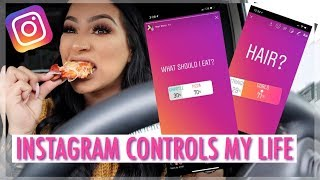INSTAGRAM CONTROLS MY LIFE FOR A DAY   OUTFIT, MAKEUP & WHAT I EAT ALL DAY!