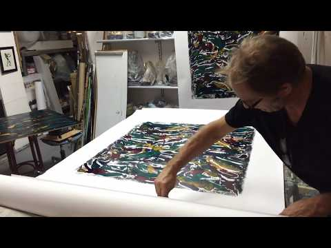 Making of monotype-prints with plastic bags 3
