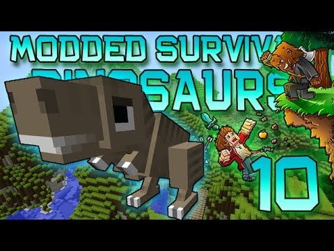 Minecraft: Modded Dinosaur Survival Let's Play W/Mitch! Ep. 10 - CARL IS HUGE! - Smashpipe Games