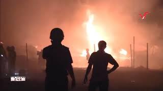 Tin nhanh 24h-  TPHCM, cháy kho chứa vải tại đường 16A, phường Bình Hưng Hòa A