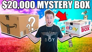 $10 VS $20,000 EBAY MYSTERY BOX CHALLENGE!! 📦⁉️ Cash, Poo Toys & More